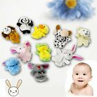 10PCS Novelty Zoo Farm Animals Finger Puppets Plush Cloth Toy Bed Story Telling