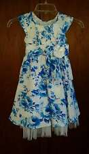 JONA MICHELLE Girl's 5 Blue Floral Easter Wedding Special Occasion Dress