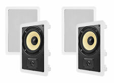 """4) VM AUDIO ELUX 6.5"""" 225W 2 Way In-Wall Surround Sound Home In Wall Speakers"""