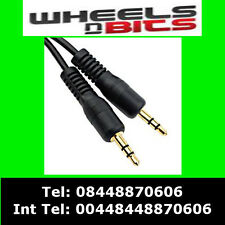 1.2m 3.5mm Jack to Jack Kenwood Pioneer Car Stereo Aux input iPod iPhone Samsung