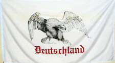 Fahne Flagge Militaria Deutschland mit Adler + Schriftzug Weiß   # 361