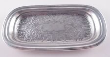TIFFANY STERLING ACID ETCHED PIN PEN DRESSER TRAY GORGEOUS ENGRAVING