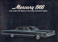 Mercury Park Lane Montclair Monterey S-55 1966 USA Market Sales Brochure