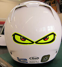 FLUORESCENT EVIL EYES HELMET KART TOOLBOX CAR SKATE STICKER DECAL FREE POST