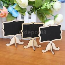 24 Vintage Wood Chalkboard Blackboard Wooden Place Card Holder Table Number