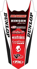 Factory Effex Rear Fender Sticker for CR125/250/500 86-01 17-32306 13-1136 Decal