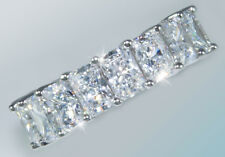 7 ct Briliant Radiant Eternity Ring Top CZ Imitation Moissanite Simulant SS S 5