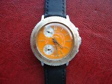 Vintage Chronograph Globa Ferrari Sports World Timer Men's Watch Swiss Made _
