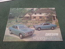1976 1977 DATSUN 140J & 160J SALOON + 160J SSS COUPE Violet - UK BROCHURE