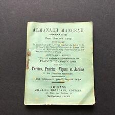 Almanach Manceau Journalier Pour L'année 1908 Le Mans Imp. Edmond Monnoyer