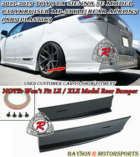 11-17 Toyota Sienna MP Style Rear Aprons (ABS) [SE Model Only]