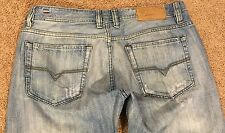 DIESEL VIKER WASH Sz. W34 L31-32 MADE IN ITALY Buttons Distressed No Heel Wear