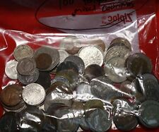 100 Mixed Foreign Coins Mixed Countries Free S/H