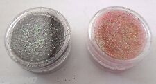 2 OPI Nail Art Glitter Black & Tropical Rainbow Pink Holographic Sparkle Powder