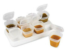 Mini Storage Boxes Set Plastic Kitchen Container Small Food Sauce Baby