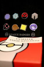 USA Seller Cosplay POKEMON Gym Badges in box Johto League Set 8  Badge Pins