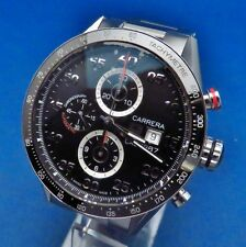 TAG HEUER CARRERA CAL 1887 STEEL AUTOMATIC WRISTWATCH, MODEL NO CAR2A10.BA0799