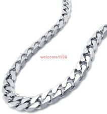 2 Meter 8mm Jewelry Finding stainless steel Curb Link Chain Finding heavy silver
