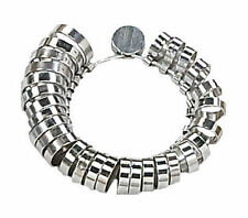 29Pc Metal Ring Finger Sizer Gauge  Flat Wide Band Wedding Jewelry 1-15 1/2 Mens