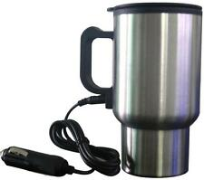 12v Cigarette Socket Heated Vacuum Insulated Travel Mug Electric Cup hot drinks