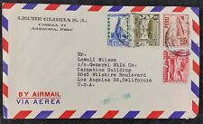 Peru 1950 Multi Stamp Commercial Airmail Cover to Los Angeles, USA