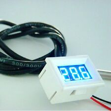 Blue LED AntiCorrosion Digital Thermometer Meter Panel DS18B20 Sensor Waterproof