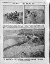 Bataille  Champagne Main de Massiges Prisoners soldiers Deutsches Heer 1915 WWI