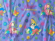 CLEARANCE FQ DISNEY ALICE IN WONDERLAND CHESHIRE CAT FLOWERS CHARACTER FABRIC