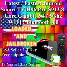 Fastest android 6 6.0 Smart TV H96 Pro S912 8Core Gigabit 5Ghz wifi Bluetooth 4