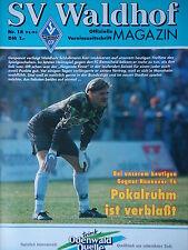 Programa 1992/93 SV Waldhof Mannheim-hannover 96