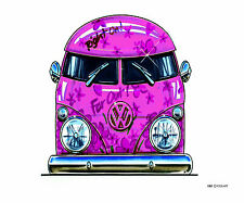 PINK CAMPER VAN - KOOLART - STYLISH MOUSE MAT - FREE POST - 100% OFFICIAL MERCH