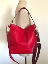 Fossil Crimson Red Leather Maya Small Hobo Shoulder Crossbody Bag ZB6979933 NWT