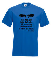 Eric Cantona T Shirt Quote When The Seagulls Follow The Trawler Manchester Utd
