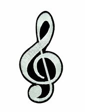 Patch backpack music note scale musical classical iron on glue/sew funny G clef