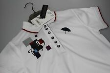 Arnold Palmer Moisture Wick Golf Polo Shirt Limited Selection White or Deep Red