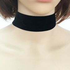 Thick Black Velvet Choker Ribbon Necklace Gothic Handmade Retro Jewelry
