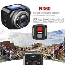 360° 4K Panoramic Mini Sports Action Camera With Remote Control WIFI Wireless