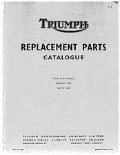 Triumph Parts Manual Book 1967 Tiger Cub Models, Bantam Cub & Super Cub