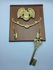 Eagle Ornament with Hooks +Huge Golden Key Coat Wall Hanger Home Décor RNC0168