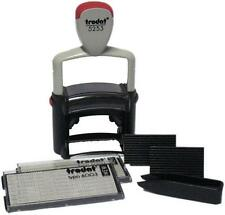 Trodat Professional 5253 D-I-Y Stamp Kit Ink Tweezers and Lettering 3mm 4mm 6...