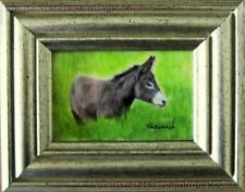 Little Donkey ORIGINAL Watercolor MINIATURE by Pervaneh Matthews