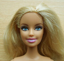 Blonde Bellybutton Barbie Glittery Eye Make up Shoulder Length Hair - nude