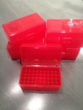 10 Berry's Plastic Ammo Rifle Box 223 222 .222 .223 17 5.56 RED 50 ROUND  405 0