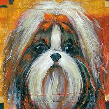 """SHIH TZU TIBETAN DOG FINE ART PRINT """"Jin Jin"""""""