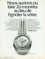 PUBLICITE ADVERTISING 115  1968  ZENITH   montre Captin chronomètre