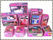 Vintage 70s Mattel Barbie Dream House Furniture and Accessories + Original Boxes