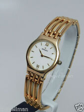 Womens Swiss Made Authentic Movado Esperanza White Dial Gold Bracelet Watch
