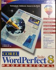 Corel WordPerfect Suite 8 Professional New Box Paradox