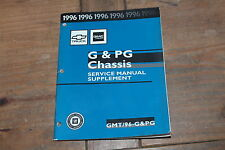 G & PG Chassis Truck Supplement 1996 Chevy Shop Service Manual