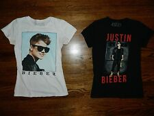 Lot of Two Justin Bieber T-Shirts Size Large 12/14/16